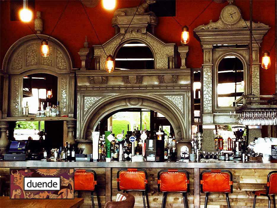 Ornate Spanish style bar surround by Devlin In Design artists, Northern Ireland