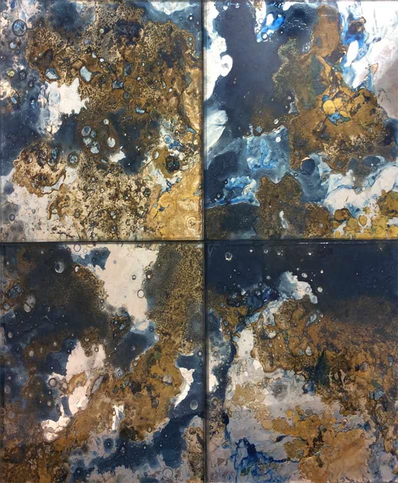 Antiqued mirror U.K, vintage gold mirror, distressed mirror glass Ireland