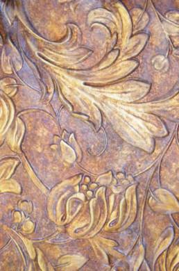 Aged lincruta, decorative painters UK, specialist decoration, decorating, gilding