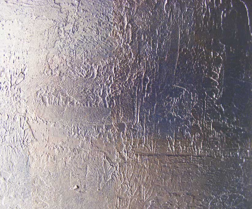 Wall installation specially commissioned for the entrance of a private residence. The surface texture was created by our decorative plasterers, and recieved the metallic paint finish to create this luxury paint and plaster finish.