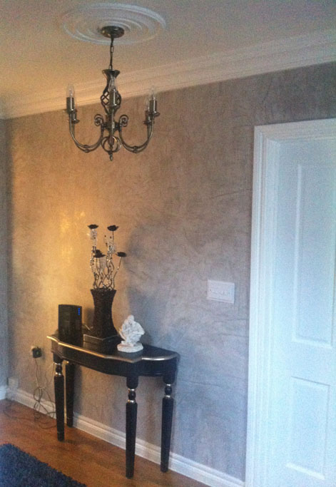 Marmorino venetian plaster walls at a private residence in Northern Ireland.