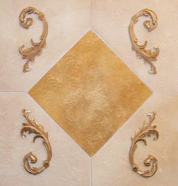 Faux stone finish, gilded decorative moulding, decorative painters Northern Ireland