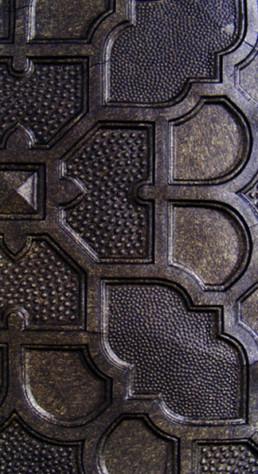 Distressed bronze, faux bronze, lincrusta faux finish, specialist decorators UK