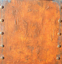 distressed texture rust finish, rust patina, rusted panel, specialist decorating
