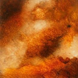Orange fantasy faux marble, specialist decorators UK, specialist decorating UK