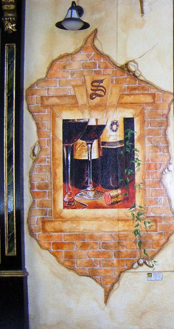 Trompe L'oeil Exterior Mural to bar façade in Dublin, Ireland.
