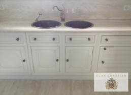 Hand painted kitchens UK, aged cabinetry, kitchen painting UK