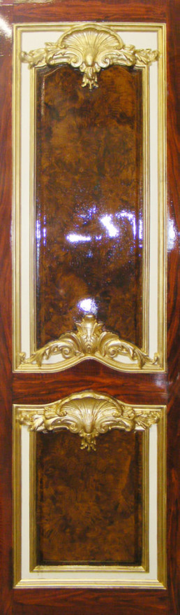 Woodgrain and gilded panel, Gilding London, Specialist Decorating UK