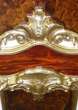 Walnut Mahogany Woodgrain, gilding specialists UK, specialist decorators UK