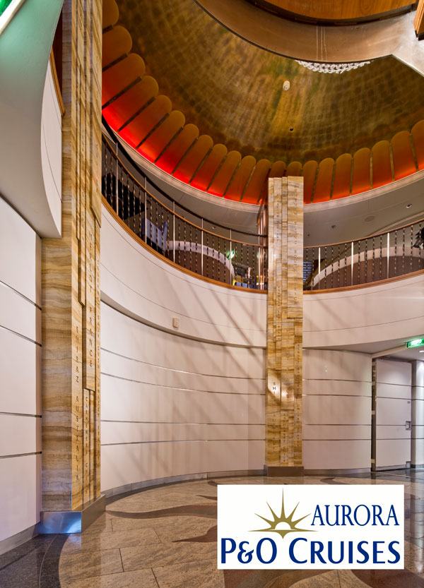 The faux limestone hand painted columns were carried out by our specialist decorators at Devlin In Design.