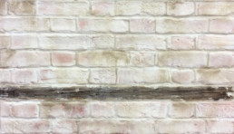 Faux brick, hand painted brick, distressed plaster, specialist decorators UK