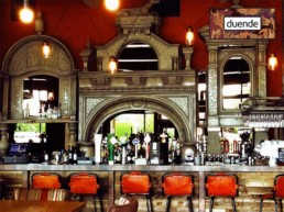 decorative spanish bar front, ornate mosaic, specialist decorating Northern Ireland