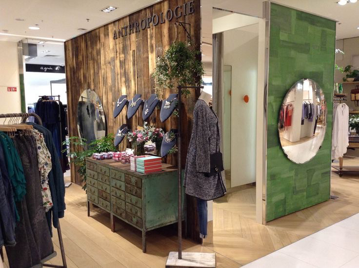 Vintage Patched Canvas Wall Installation by Devlin In Design, for Anthropologie