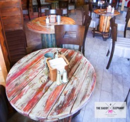 Distressed wooden tables, hand painted and distressed furniture, aged paint
