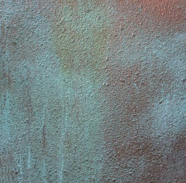 Copper patina wall finish for private bar.