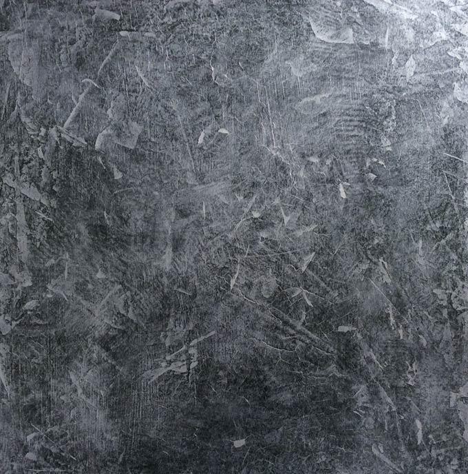 Silver venetian plaster wall