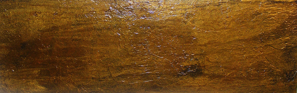 Distressed and tarnished metal wall