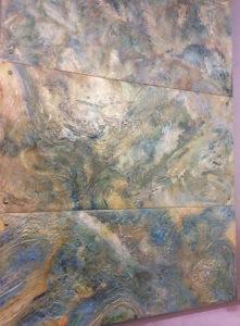 Tarnished Metal, Metal Wall Panels, Wall Installiation, Distressed Metal