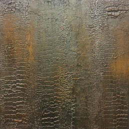 Bronze snakeskin wall finish, Bronze metallic finish, metal specialist decorators UK