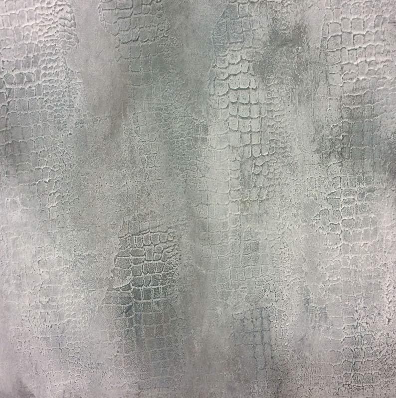 Snakeskin textured concrete decorative finish