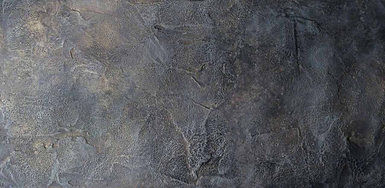 Aged and distressed Venetian plaster on restaurant interior walls.
