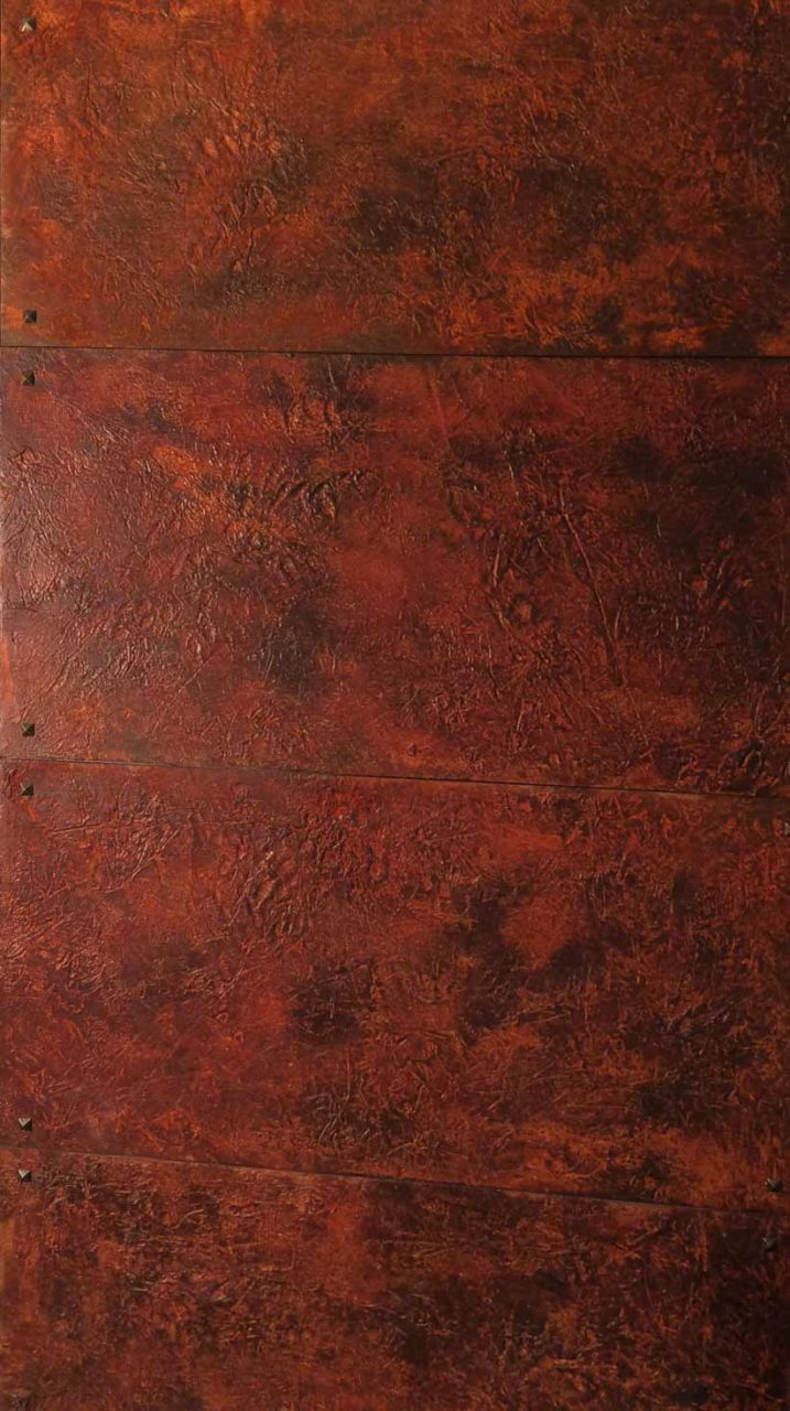 Rusted metal wall panels