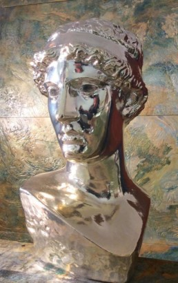 Chrome finish, chrome statues, chrome sculptures, chroming Ireland, chrome U.K.