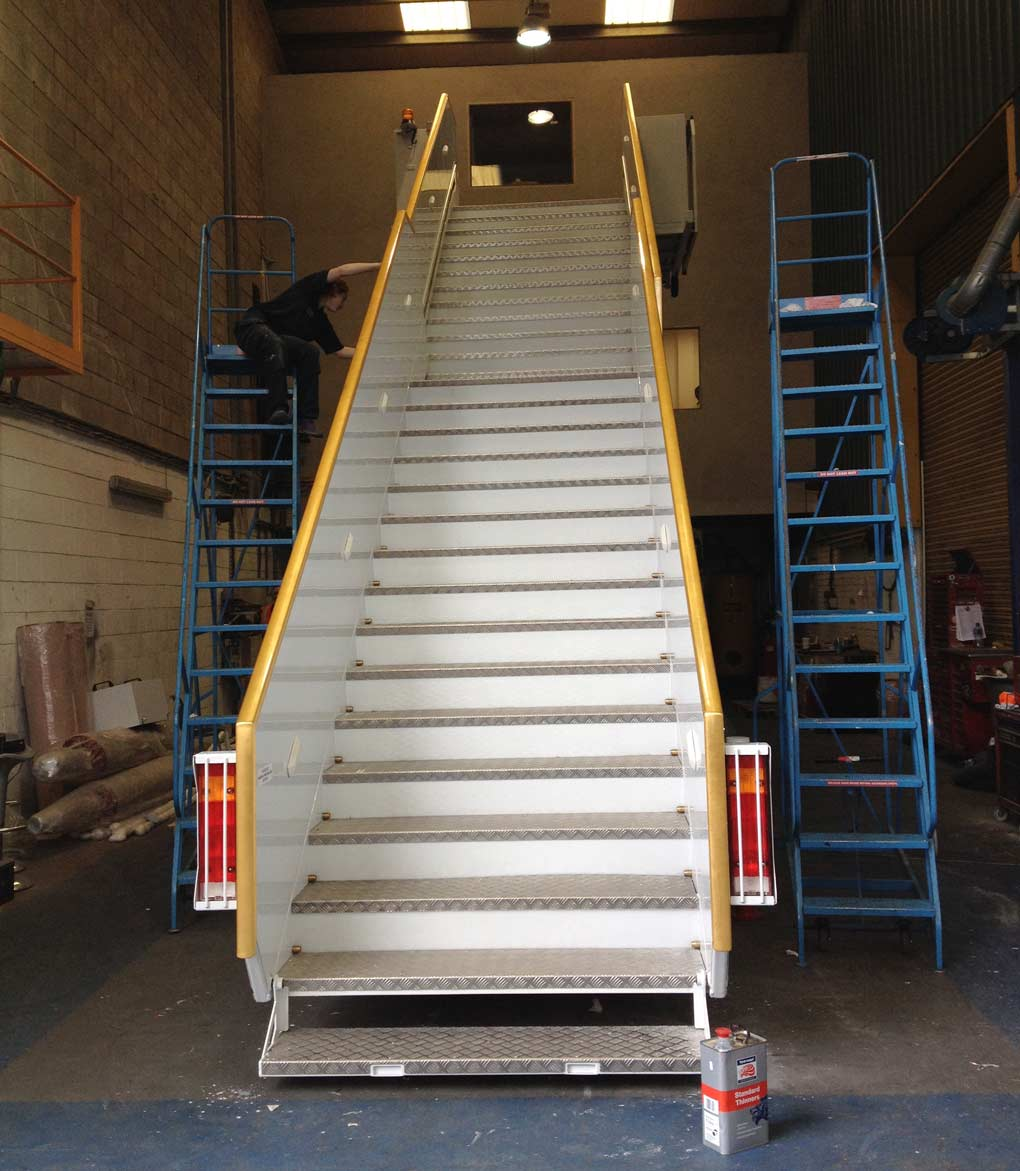 Gilding the motorised passenger staircase for the Sultan of Brunei in 24ct gold