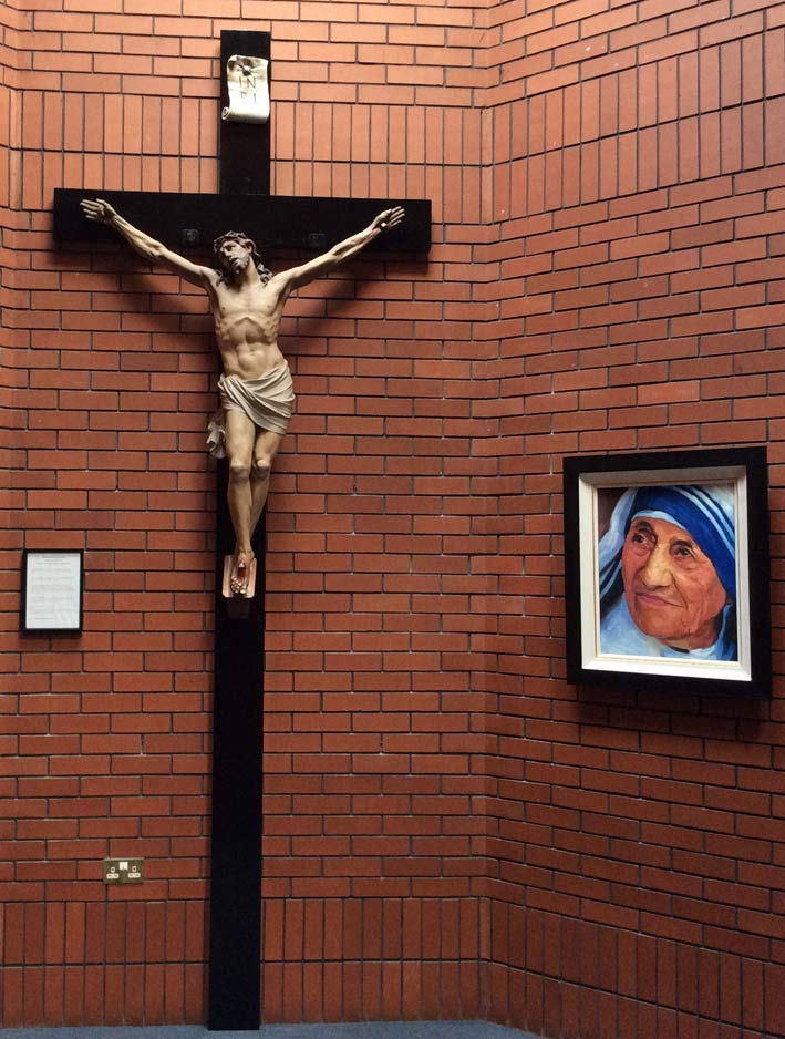 The crucifix of Saint Mother Teresa restored to all its former glory and beauty.