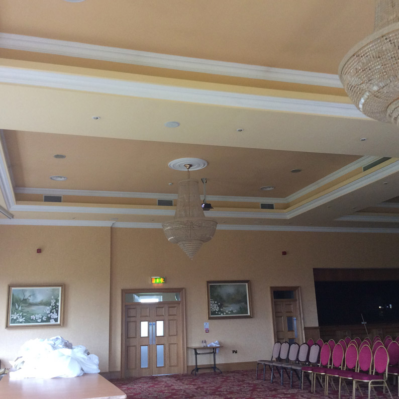 Corick House Hotel and Spa before any work was carried out by master specialist decorators, Devlin In Design.