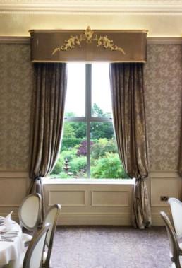 Luxurious pelmets, pelmets Northern Ireland, hotel pelmets U.K, pelmets ireland.