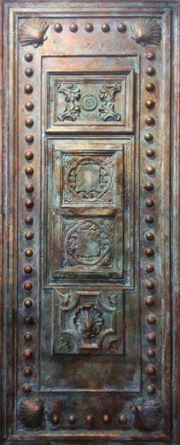 Vintage door panel, aged door, distressed door, decorative painters, distressing.