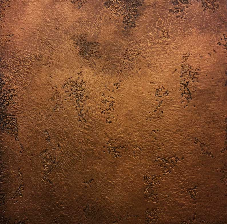 Textured copper bespoke plaster finish by Devlin In Design, Specialist Decorating UK