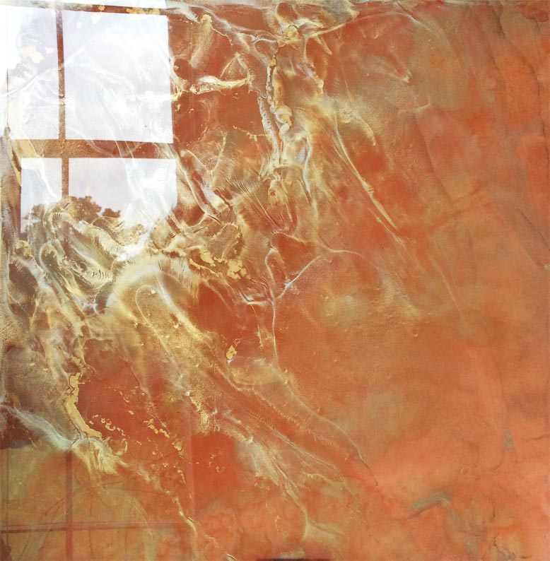 Marbled antique hand crafted shatterproof mirror glass designed and manufactured by Devlin In Design.