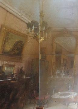 Antiqued mirror glass panels U.K, vintage mirror panels U,K, mirror