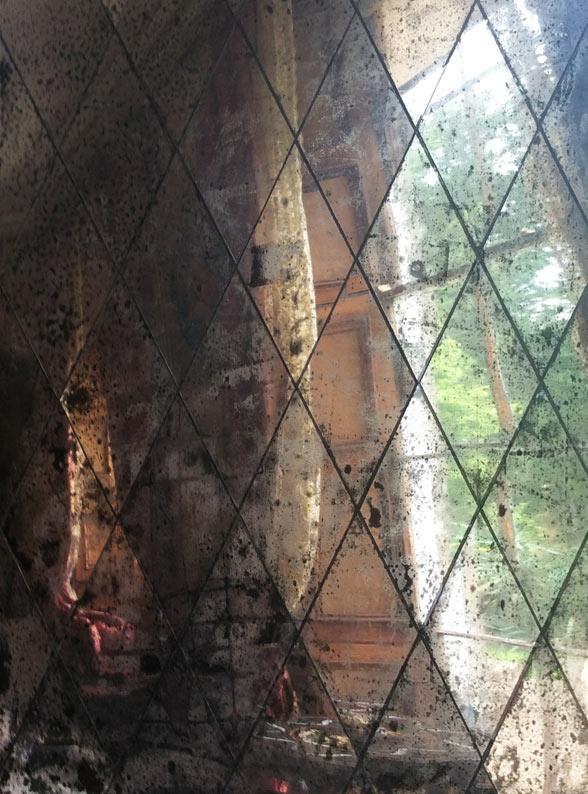 Foxed mirror U.K, antique mirror glass, distressed mirror glass U.K
