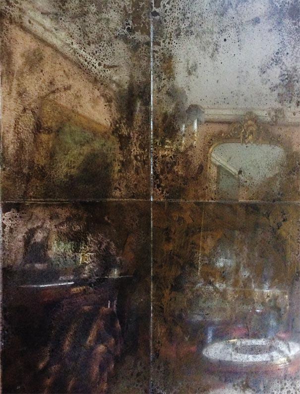 Distressed mirror glass U.K, antique mirror glass U.K, vintage mirror