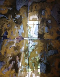 Foxed mirror glass Ireland, antique mirror glass U.K, distressed mirror