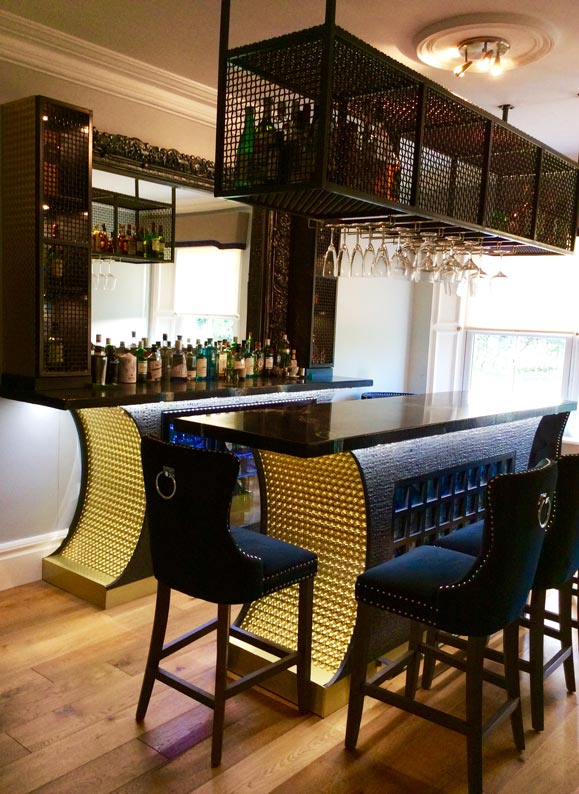 Bar fitout and bar design carried out by our specialist decorators and decorative painters at Devlin In Design.