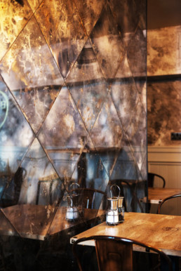antique mirror, gold distressed mirror, vintage mirror glass, smoked mirror