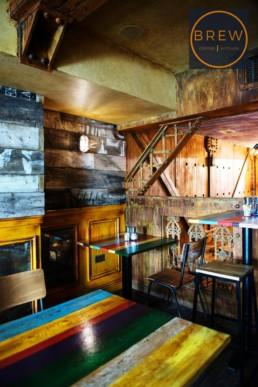 Faux rust, decorative painted ceiling, rust panels, specialist decorators UK