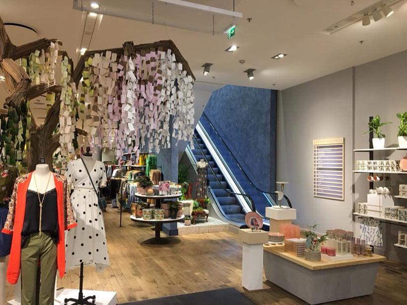 Polished plaster for shop interior Düsseldorf, Germany