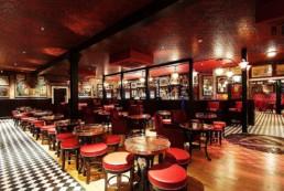 Red leather faux finish, decorative painters Ireland, Specialist decorators Ireland