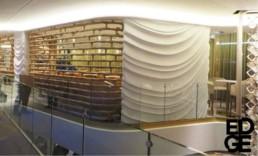 Wavy wall, feature walls, cruise ship artwork, sculpted walls, sculpture