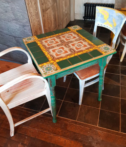 Mosaic table, specialist surface finishes Northern Ireland, Bespoke furniture finishes